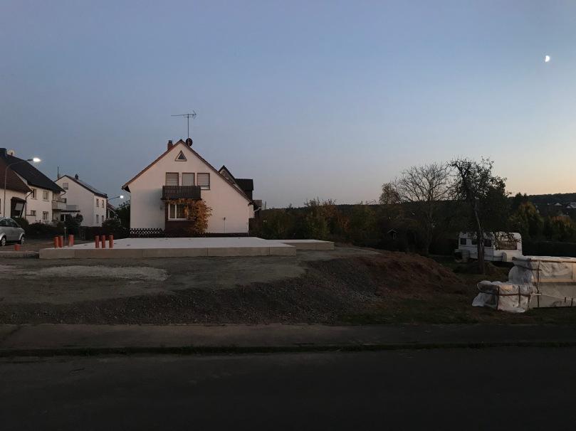 Bodenplatte vor Baustart