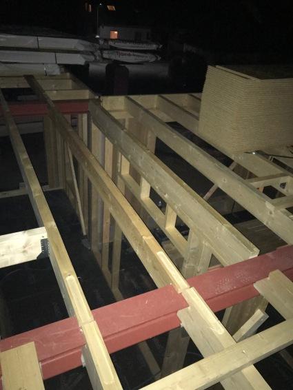 Stahlträger Decke Flur und Erker