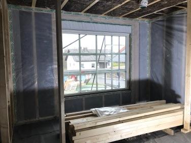 Wohnzimmerfenster EG mit Dampfsperre
