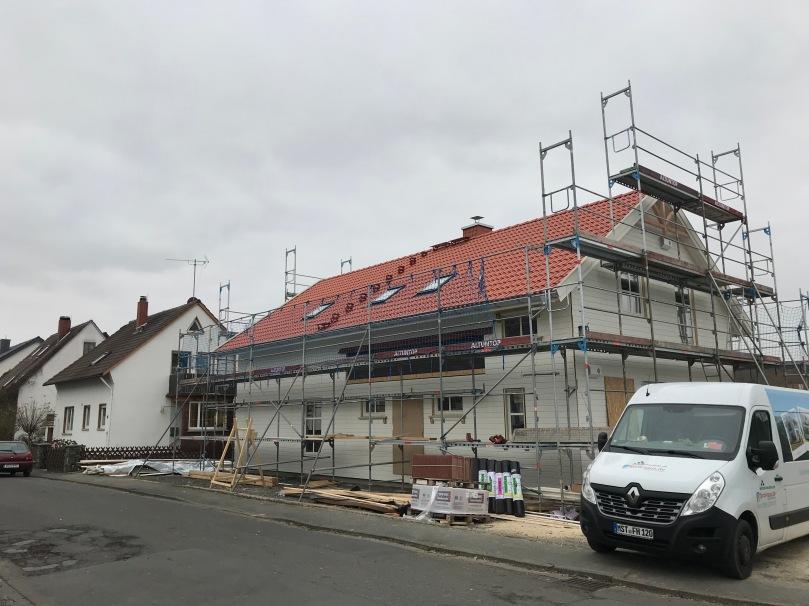 Fertiges Dach von Norden
